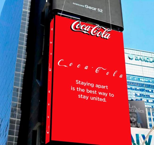campaña de Coca cola pandemia